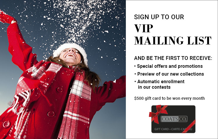 Join our VIP Mailing Lost
