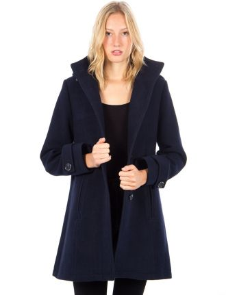 Hooded classic coat by Saki