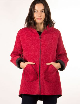 Hooded fall coat by Froccella