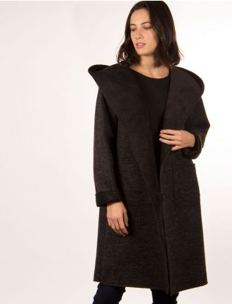Fall coat with hood by Froccella