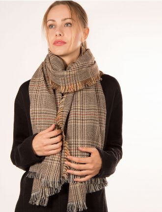 Plaid scarf by Janie Besner