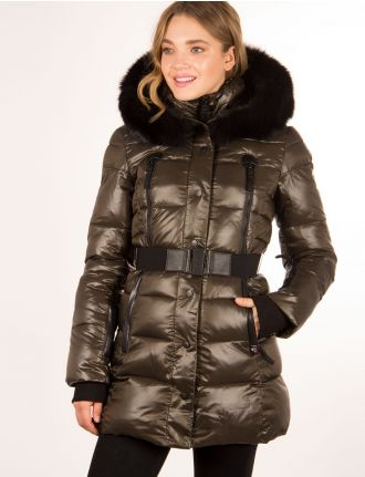 Glossy quilted parka by Sicily