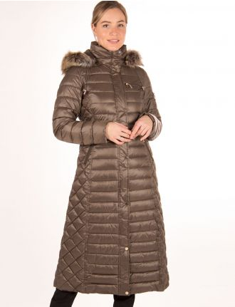 Long multi-quilted coat by M-Collection