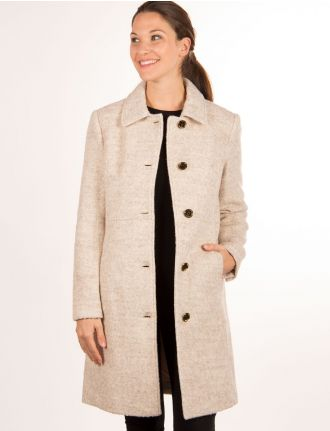 Textured wool coat by Novelti