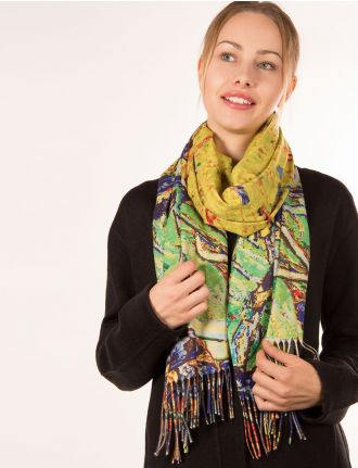 Abstract scarf by Saki