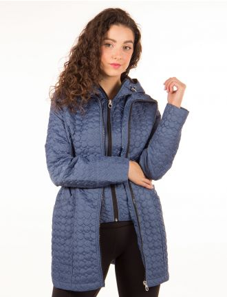 Chevron quilted coat by Marcona