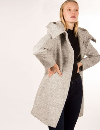 Boucle tweed coat by Marcona