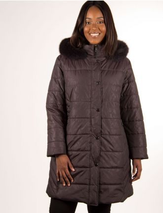 Quilted coat with genuine fur trim by Northside