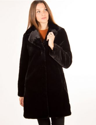 Faux fur coat by Portrait