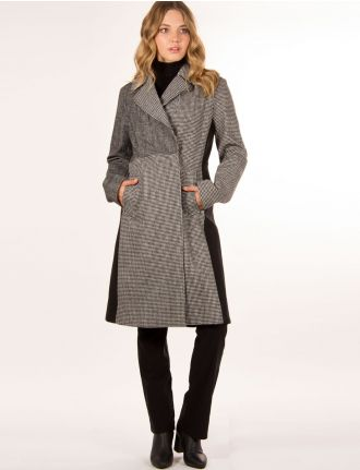Houndstooth coat by Rachel Roy