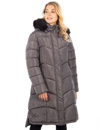 Chevron quilted coat by Big Chill
