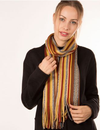 Multi striped scarf by Froccella