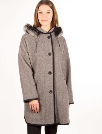 Tweed oversize coat by Styla