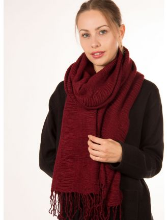 Solid pleated scarf by Di Firenze