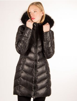 Glossy quilted coat by Froccella