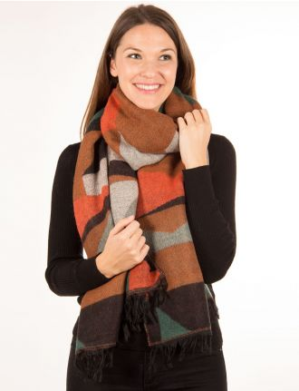 Multi colored scarf by Only