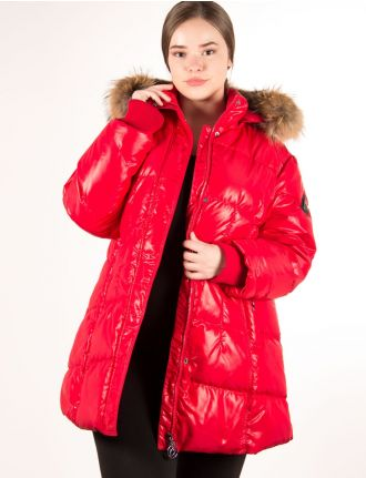 Glossy down coat by Styla Sport