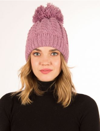 Knitted hat with big pom pom by Cymbo Accessoires