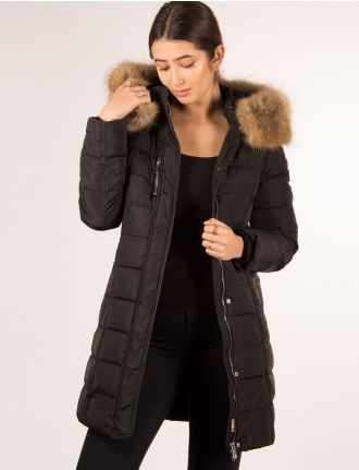 Long quilted coat by Styla