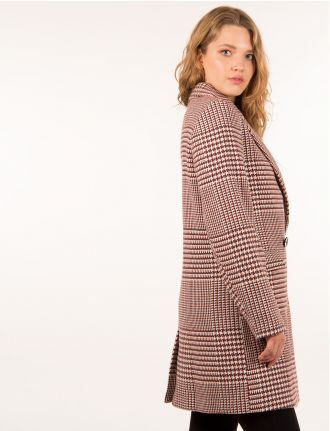 Classic Houndstooth coat by ONLY